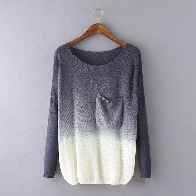377c6c4ebd Fashionable Long Sleeve Knit Sweater 4655629