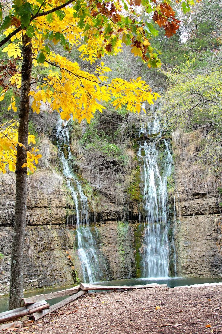 Wish Bowl Falls Waterfall in the Ozark Mountains - Branson, Missouri, USA