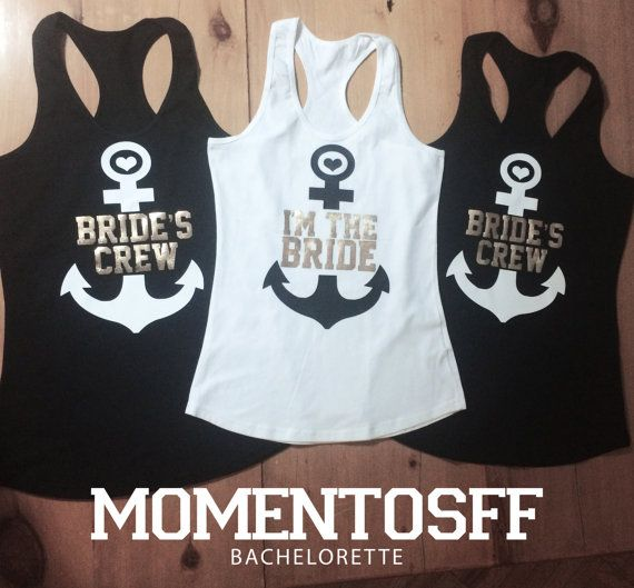 Bachelorette party Tees & Tanks by MOMENTOSFF on Etsy