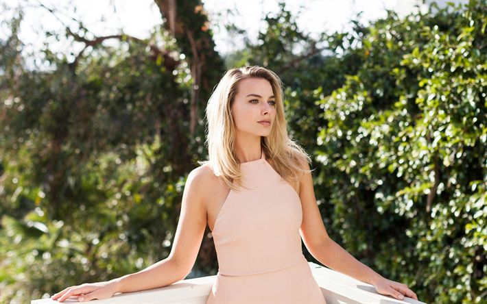 Download wallpapers Margot Robbie, 2018, photoshoot, New York Times, Hollywood, australian actress, blonde