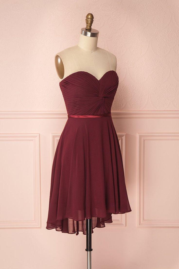 Maliha Burgundy Bustier A-Line Prom Dress | Boudoir 1861