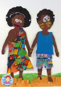 bambini africani artigianato, idea vivaio, tema Africa 6.