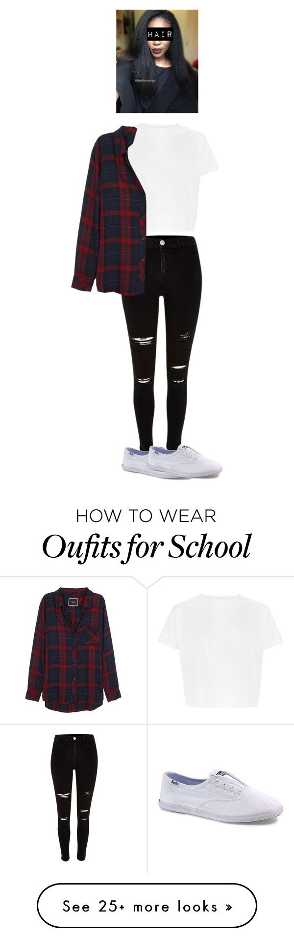 """outfit for school trip"" by bandssaveme1 on Polyvore featuring River Island, Rails and Keds"