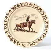 Home For Christmas Cowboy Western 11 in Dinner Plate by True West - Holiday Decor Items - WEST BY SOUTHWEST DECOR