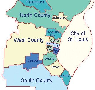 For everyone who doesn't know what I'm talking about when I speak of West County and South County in St. Louis. St. Louis Counties