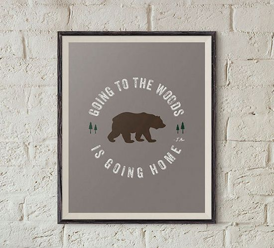 """Take a look and Download this FREE Printable John Muir Quote, """"Going to the woods, is going home"""". MountainModernLife.com"""