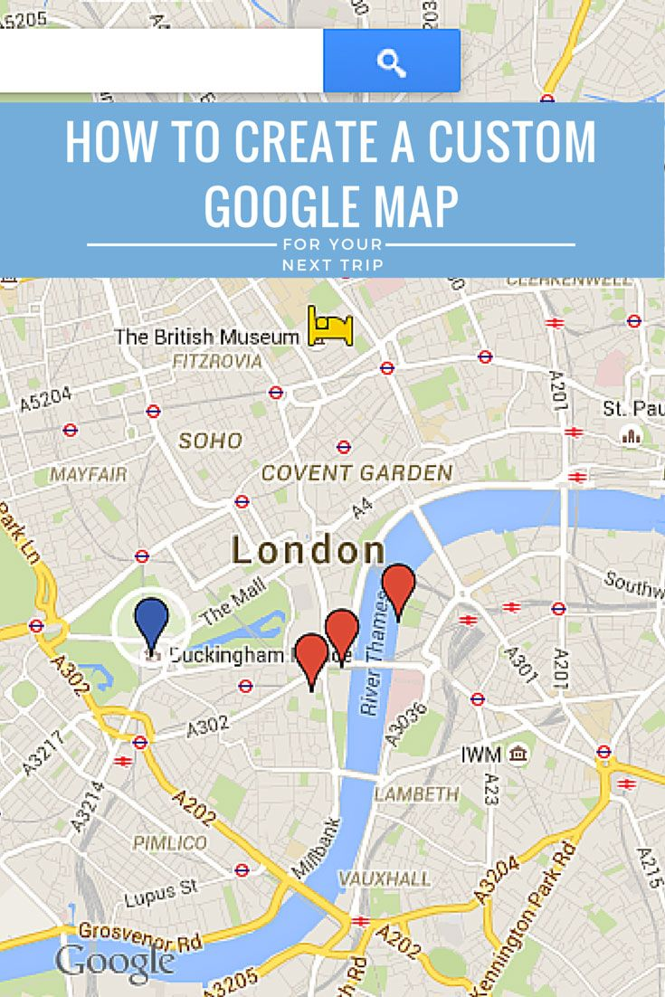 A step-by-step tutorial on how to create a custom itinerary with Google Maps and a guide on how to use an app to access the map and GPS offline.