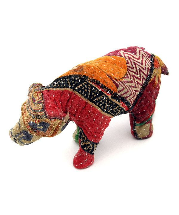 Look at this 6'' Sari Fabric-Wrapped Bear Figurine on #zulily today!