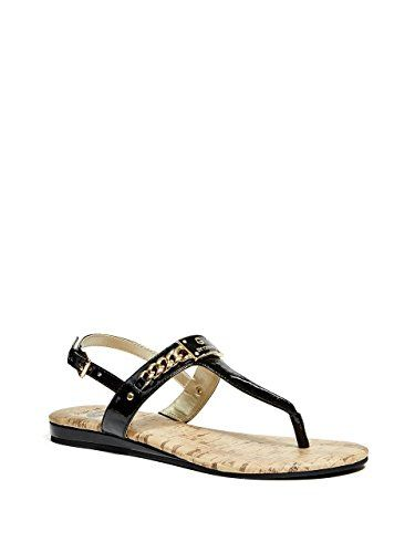 0461f9d1fe3a G by GUESS Womens Jossy Open Toe Casual T-Strap Sandals Review ...