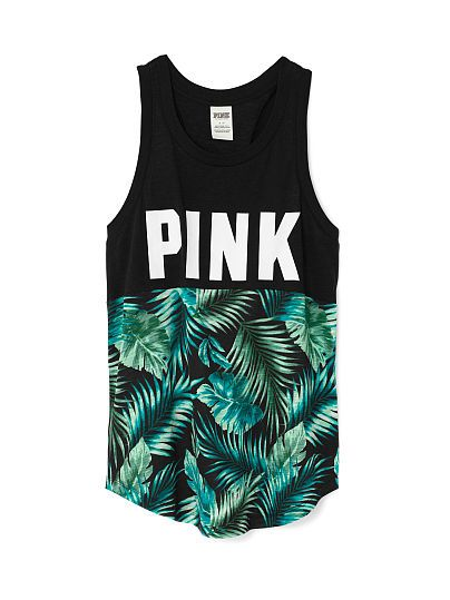 Ringer Tank PINK LC-335-539 (3H3) A classic racerback with a curved hem and relaxed fit. Only by Victoria's Secret PINK. Relaxed, easy fit Lightweight cotton blend Curved hem Longer, tunic length Imported cotton/polyester