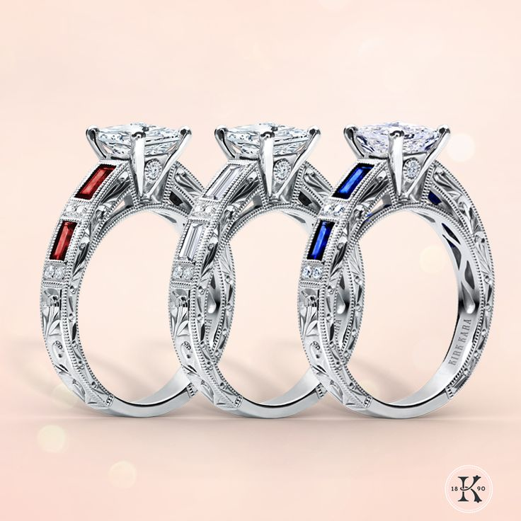 Kirk Kara Sapphire, Diamond & Ruby Engagement Rings From