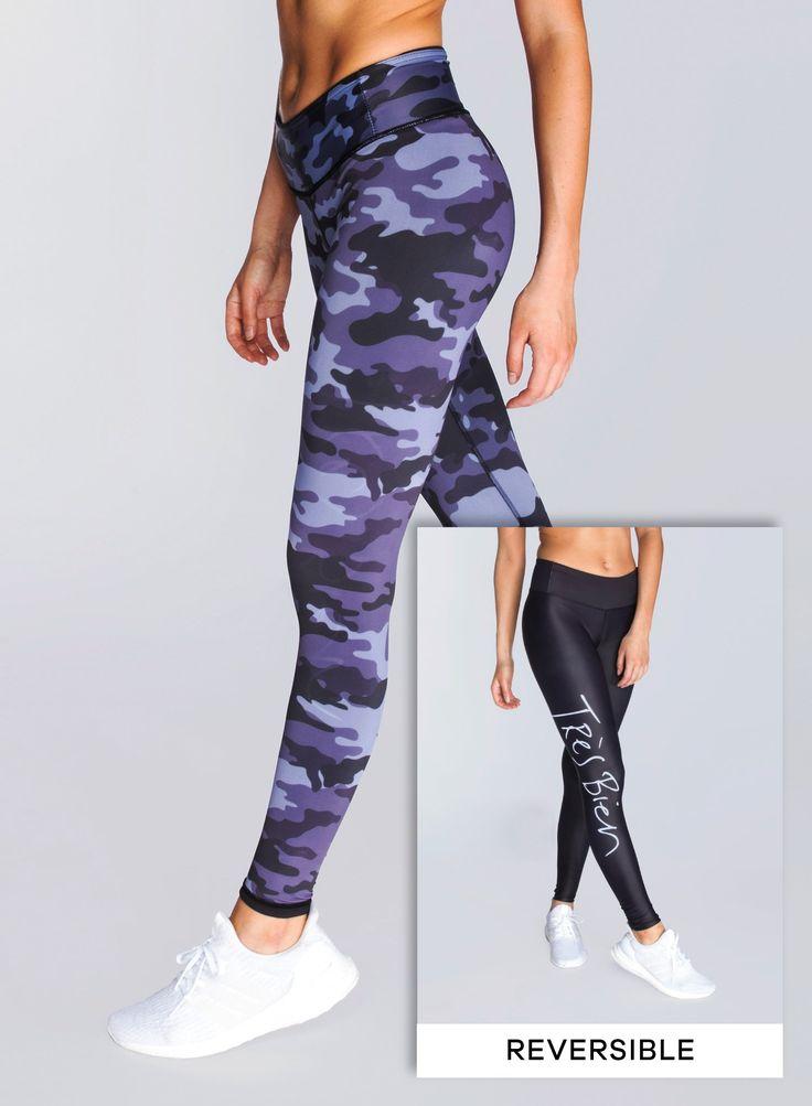 GREY CAMO — Reversible Leggings