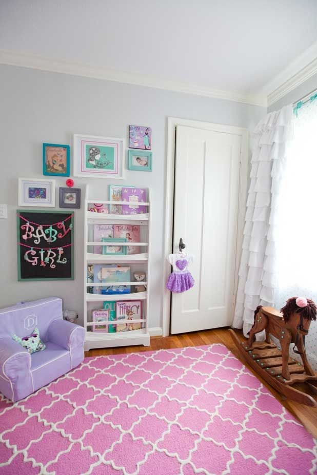 Adorable Grey, Purple, Teal U0026 Pink Nursery!