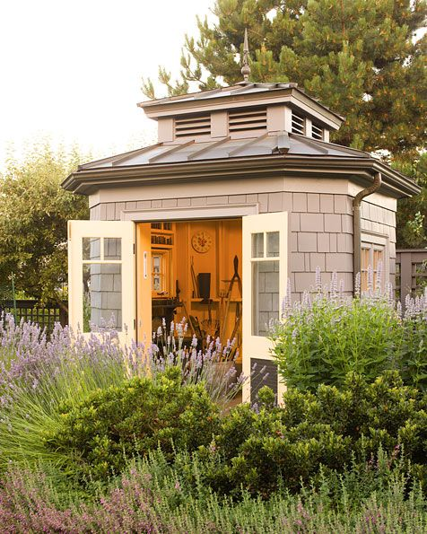 """This Small Backyard Guest House Is Big On Ideas For: """"Stylish Sheds & Elegant Hideaways;"""" William Wright Photo"""