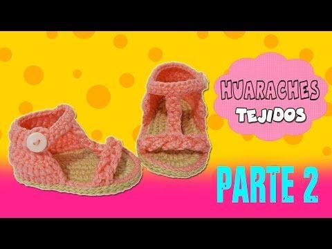 Sandalias Huaraches tejidos a Crochet con trenza | parte 2/2 - YouTube
