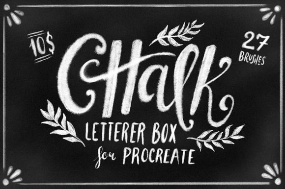 Chalk Letterer Box for Procreate by Guerillacraft on @creativemarket