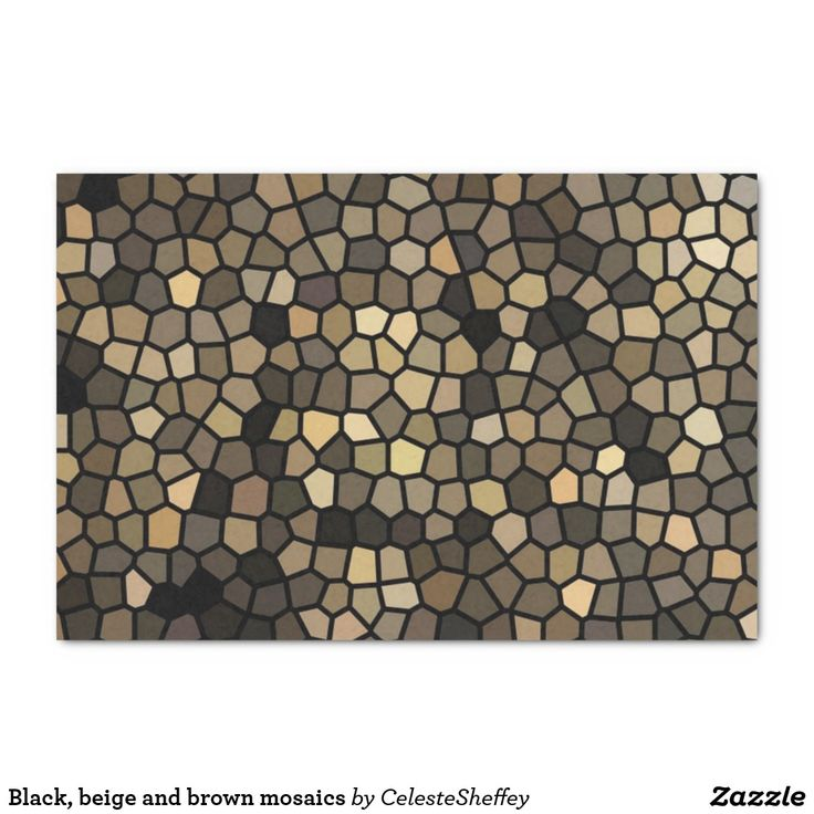 Black, beige and brown mosaics tissue paper (sold - United Kingdom) Thank you!