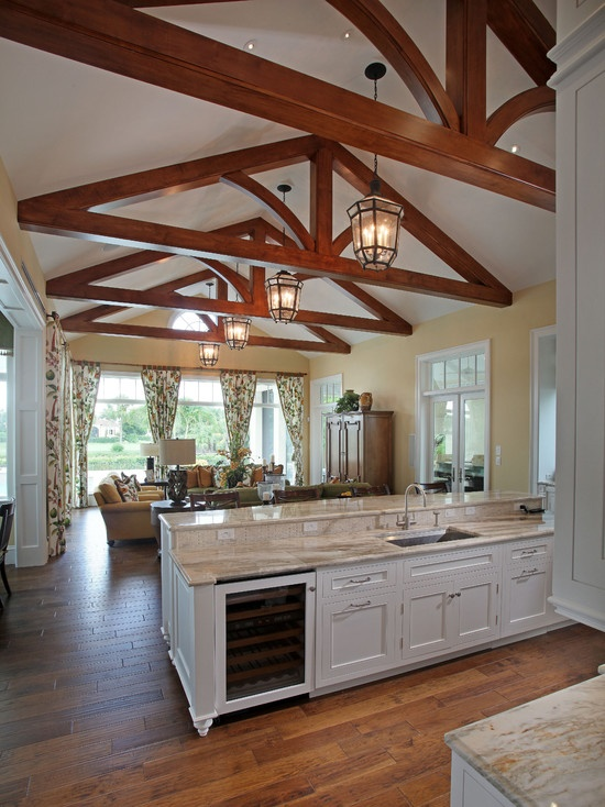 133 best hawaiian kitchens images on pinterest tropical for Tropical kitchen designs