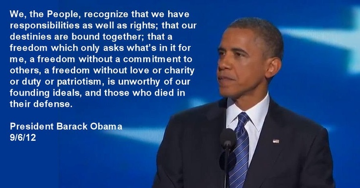 Obama quote on freedom.