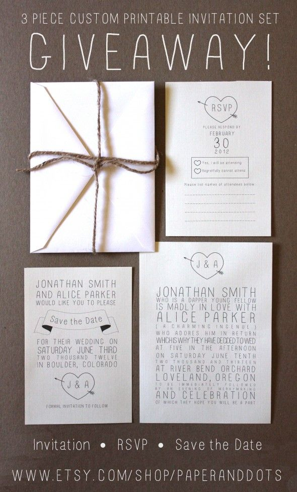 Rustic Wedding Invitation Giveaway