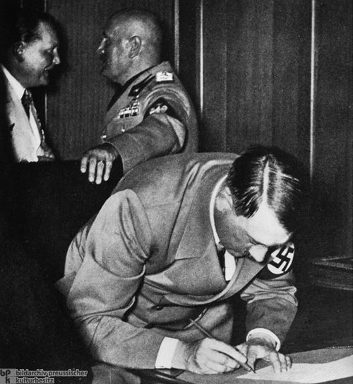 Adolf Signs the Munich Agreement (September 30, 1938)