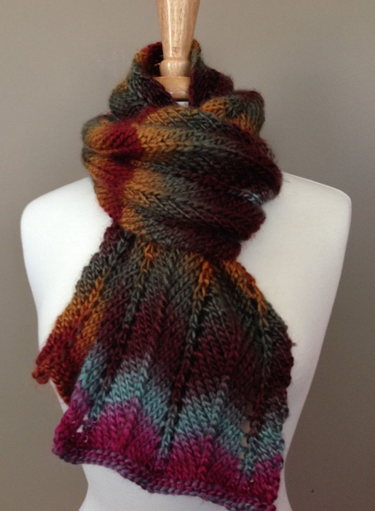 The Desert Sunset Scarf by KnotYourAvgKnits on Etsy