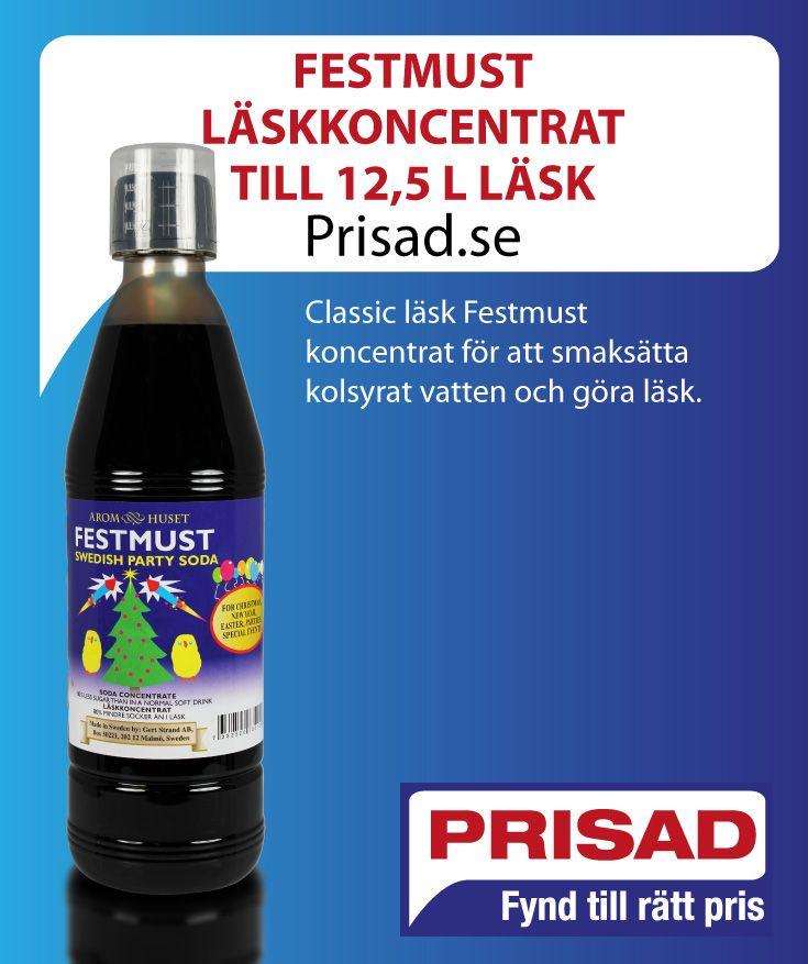 Classic läsk Festmust koncentrat för att smaksätta kolsyrat vatten och göra läsk.