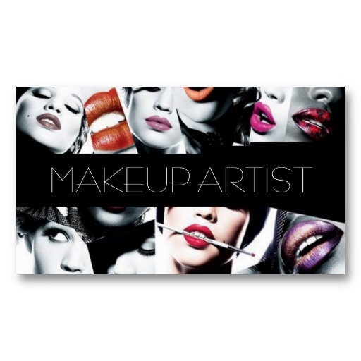Makeup Artist, Cosmetologist, Beauty, Salon Business Card Templates