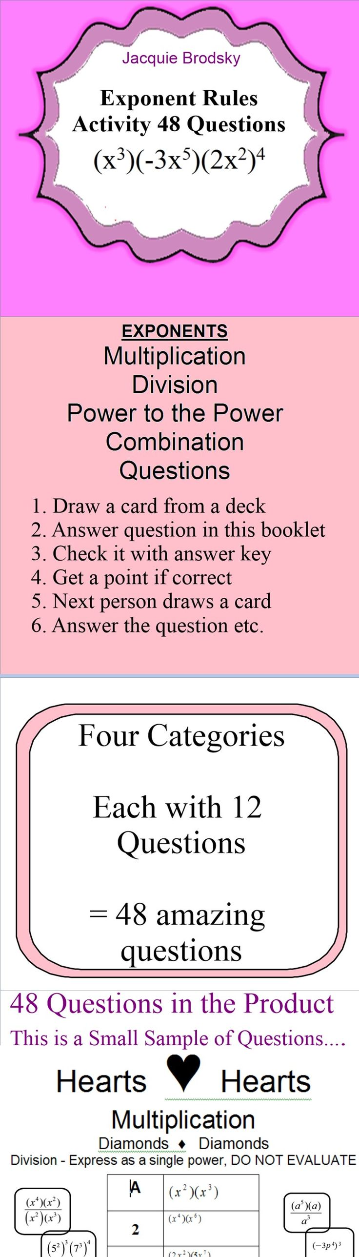 27 best 2016 2017 exponent rules images on pinterest high school laws of exponents exponent rules editable 8a1 falaconquin