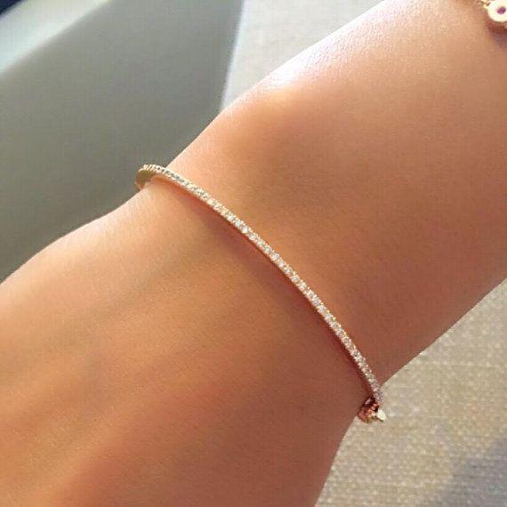 Diamond Bracelet Gold Diamond Bracelet Bangle Bracelet Gold Braclet Thin Bracelet Tennis Bracel Bracelets Gold Diamond Gold Bracelet Swarovski Bracelet