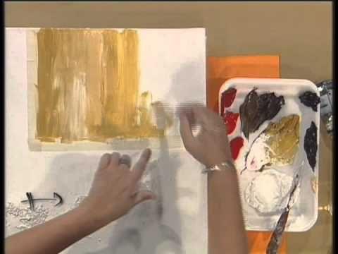MONITOR | Gabriela Mensaque realiza flores rojas con texturador con Lautrec | Manos a la Obra - YouTube
