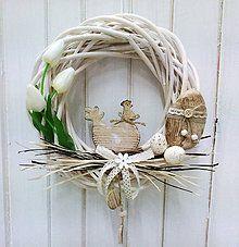 Dekorácie - Veľkonočný veniec na dvere - 6503481_