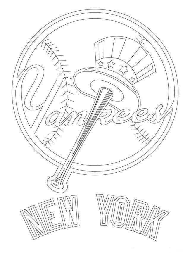 Major League Baseball Mlb Coloring Pages New York Yankees Logo Baseball Coloring Pages Yankees Logo