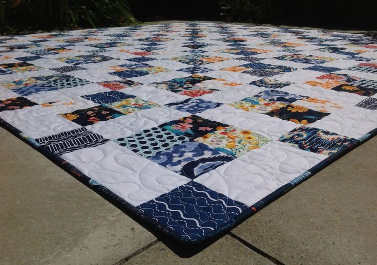 Close up of the quilt front