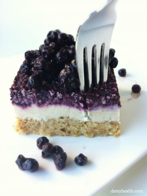No-bake Clean Eating Blueberry Cheesecake