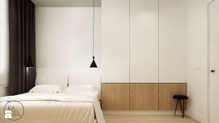 STRZESZEWSKIEGO - Średnia sypialnia małżeńska, styl minimalistyczny - zdjęcie od KAEEL.GROUP | ARCHITEKCI