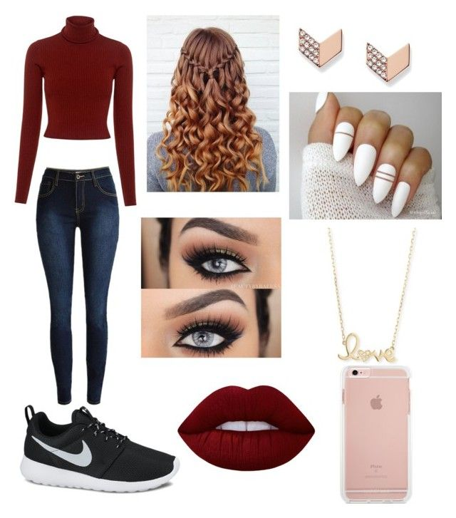 """""""Ootd"""" by jaraujo3 on Polyvore featuring A.L.C., FOSSIL, Sydney Evan, Lime Crime and NIKE"""
