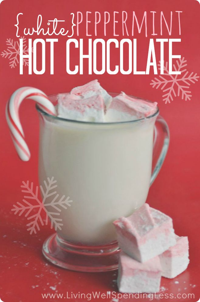 This rich & creamy white chocolate peppermint hot cocoa is surprisingly easy to make and SO delicious! The perfect treat for a cold winter's night!