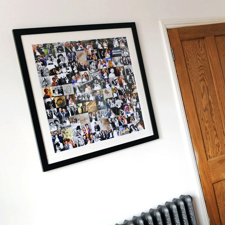 Our wedding collages are better than albums living in boxes we think! The whole day, on the wall, being enjoyed every time you walk past!