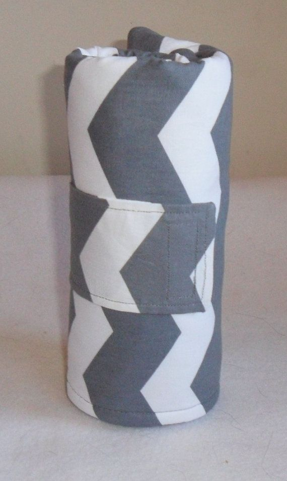Gray Chevron and Lavender Minky Dot Changing Mat Pad by JuliesBags