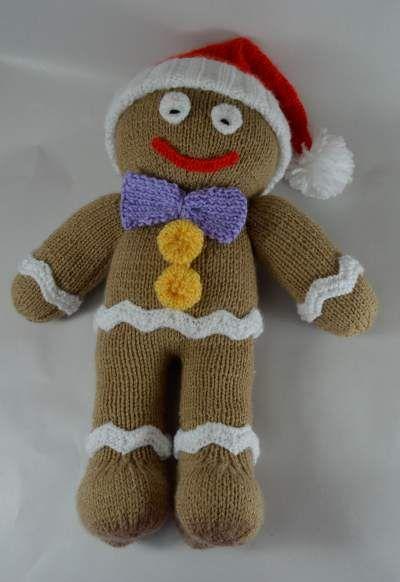 gingerbread man knitting pattern