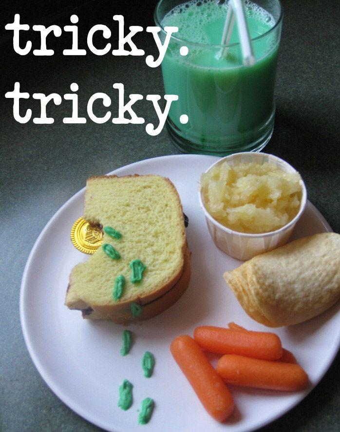 Tricky Leprechaun Lunch By Craft Gossip