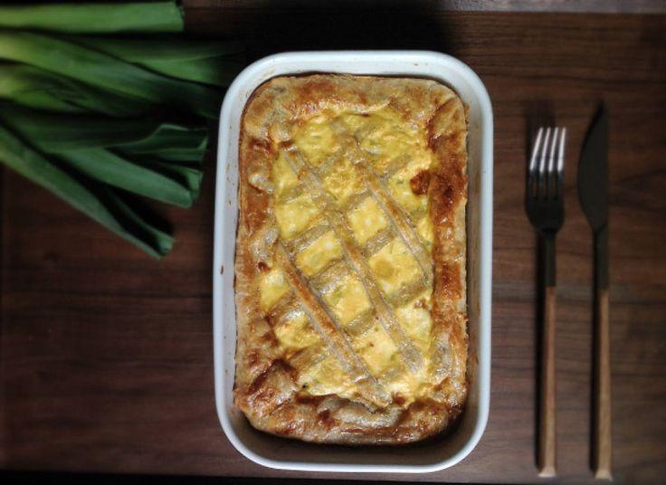 Pastel de puerros: está bueno tanto frío como caliente y, además, es facilísimo de hacer