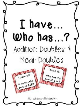 I Have Who Has: Doubles and Near Doubles {Freebie}