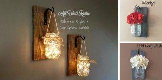 Krásny nápad zo zaváraninových pohárov! Rustikálne svietniky na stenách dotvoria atmosféru vášho domova