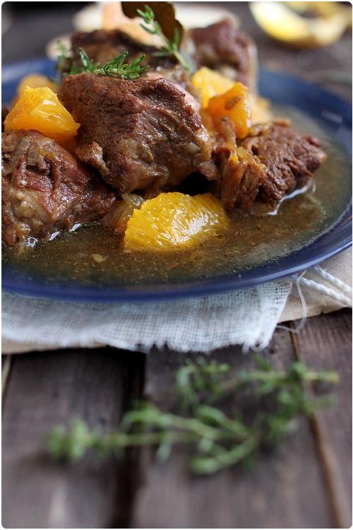 Sauté de veau au miel Corse et aux agrumes