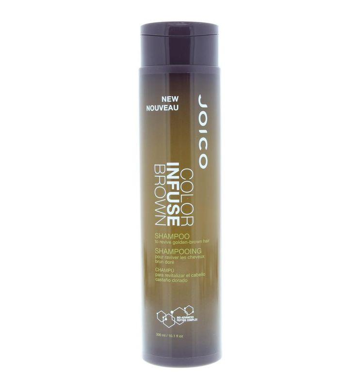Joico Color Infuse Brown Shampoo Gekleurd Haar 300ml  Joico Color Infuse Brown Shampoo. Deze shampoo maakt van bruin haar luxueuze honing gouden dansende lokken. Verheldert de kleur en vermindert breuk met 53 procent. Gebruik: Aanbrengen op nat haar. 5 minuten in laten werken en goed uitspoelen.  EUR 22.30  Meer informatie