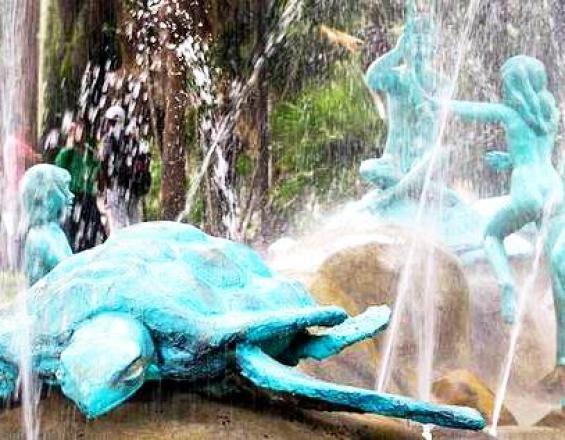 #CALI  HOY: monumentos  Entregan arreglos en Fuente de Los Niños