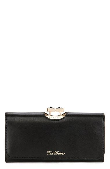Ted Baker London 'Bow' Leather Matinee Wallet