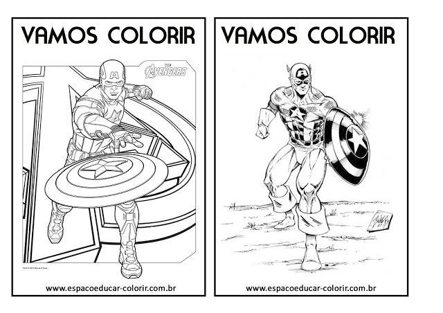Livro De Colorir Dos Vingadores Grátis Para Imprimir